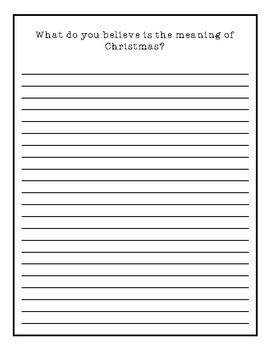 December Creative Writing Packet