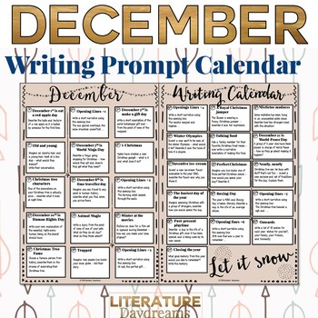 Creative Writing Prompts Calendar: December