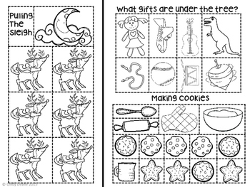 December Cut and Paste Language Development Printables