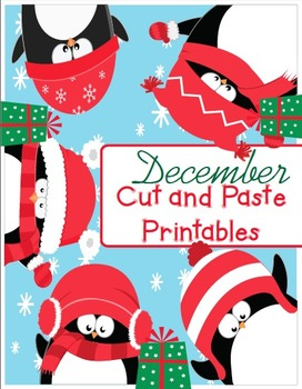 December Cut and Paste Printables