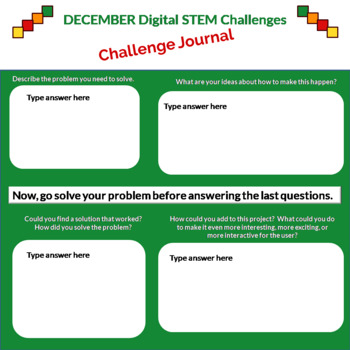December DIGITAL STEM Challenges