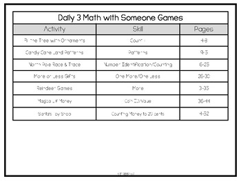 December Daily 3 Math with Someone Games