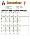 December Daily Behavior Chart
