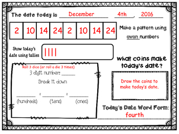 December Daily Calendar Activity Journal