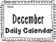 December Daily Calendar Activity Journal