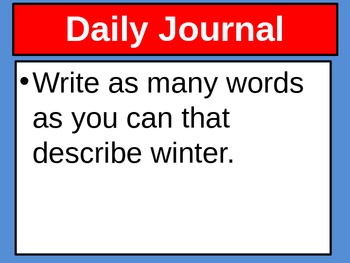 December Daily Journal Prompts