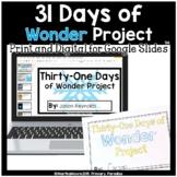 December Daily Journal: Thirty-One Days of Wonder: Print, Cut, Go!