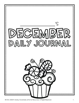 December Daily Journal (Writing Prompts)