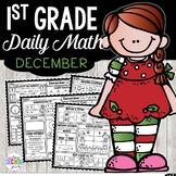 December Morning Work First Grade   December Daily Math