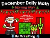 December Daily Math Morning Work