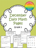 December Daily Math Pages (Focus on Patterns)