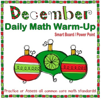 December Daily Math Warm-Up (1st Grade Common Core)