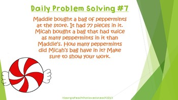 Christmas Daily Word Problems