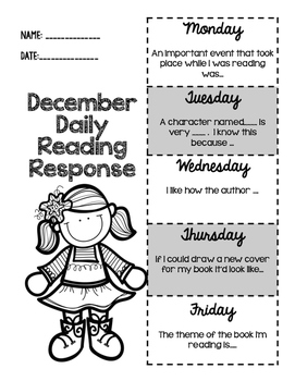 December Daily Reading Response