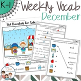 December Daily Weekly Thematic Vocabulary Word Work