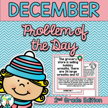 December Daily Word Problems {Second Grade}