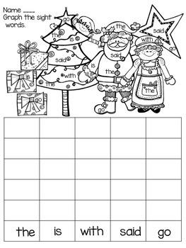 December Daily Work for Kindergarten