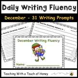 December Daily Writing Fluency Prompts - 31 Sentence Starters