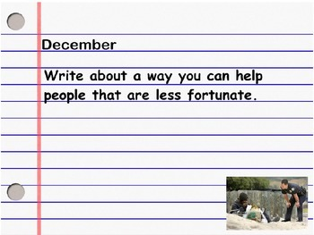 December Daily Writing Journal Prompt