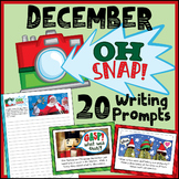 December Writing Prompts - Christmas Writing Prompts - Digital Writing Prompts