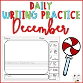 December Daily Writing Prompts for Kindergarten and First Grade