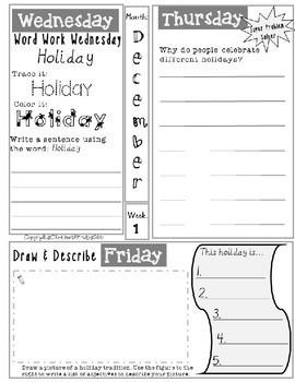 December Daily Writing Tasks