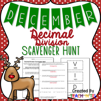 December Decimal Division Word Problems