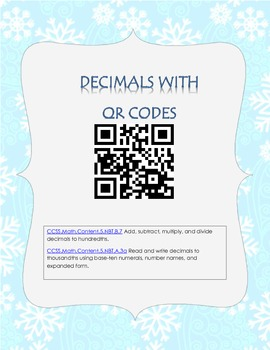 December Decimals with QR Codes