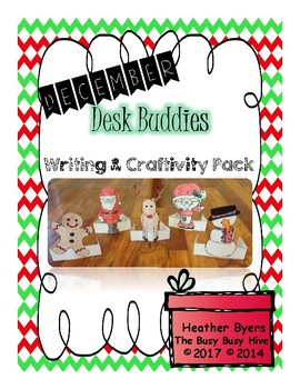 December Desk Buddies {Writing & Craftivity}