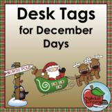 December Desk Tags | Editable