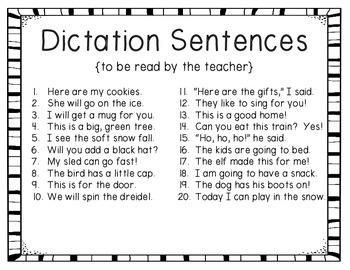 December Dictation {For the Beginner}