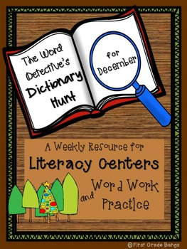 Dictionary Hunts for Literacy Centers- December