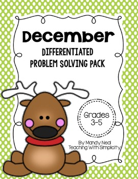 December Differentiated Problem Solving Pack