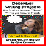 December Writing Projects for Upper Elementary Students