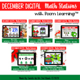 December Digital Math Stations l Task Cards | Boom Cards™