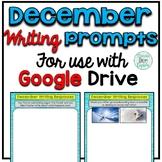 December Digital Writing Prompts for use with Google Slides