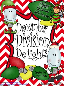 Christmas Math Activities ~ December Division De'lights' ~ Color By The Code