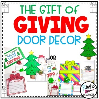 December Door Decor Christmas Bulletin Board By Rockin Resources