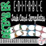 December EDITABLE Task Card TEMPLATES