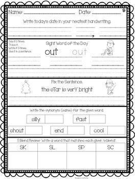 December ELA Daily Practice {Common Core}