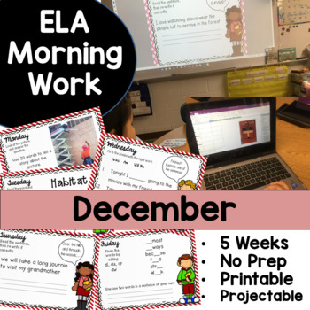 December Morning Work No Prep!