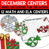 December Literacy and Math Centers Bundle for Second Grade