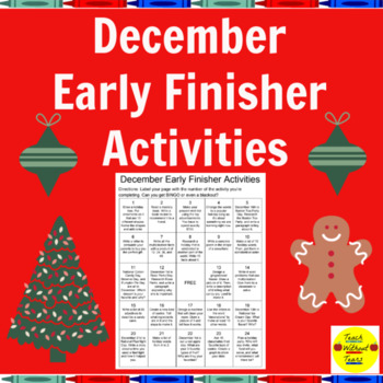 December Early Finisher Activities