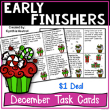 Early Finishers Task Card Activities for December {$1 Deal}