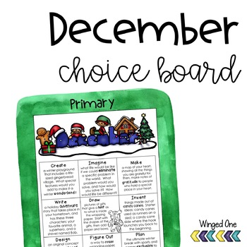 December Early Finishers {Primary} Choice Board
