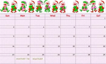 December Elves Calendar