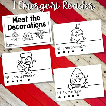 December Emergent Reader and Response Activities - Meet the Decorations