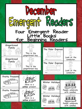 December Emergent Readers - A Book for Each Week- Christmas, Winter Holidays
