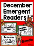 December Emergent Readers {Christmas, Gingerbread Man, Santa Claus, Reindeer}