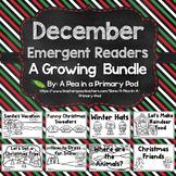 December Emergent Readers and Response Activities Growing Bundle